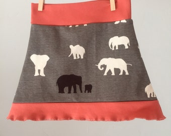 organic toddler A-line skirt, size 2T--ready to ship!!