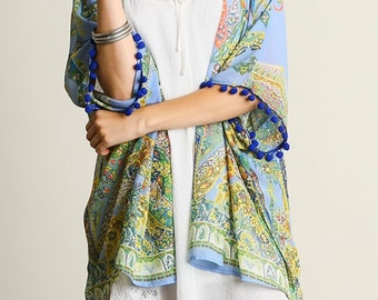 Semi Sheer Paisley Kimono