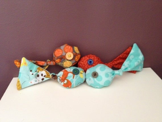 Knotted fish cat toy with organic catnip 2 toys per order for Fish cat toy