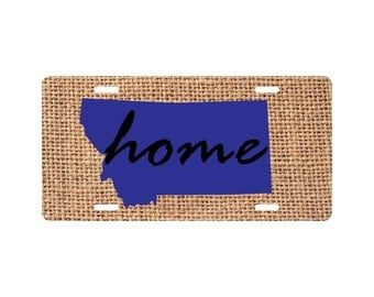 Home Montana License Plate Funny State Novelty Tag