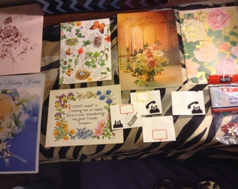 Vintage Cards and Crafts set
