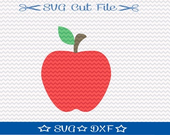 Apple SVG File /  Cut File for Silhouette / Back to School SVG / Teacher svg / Fruit svg