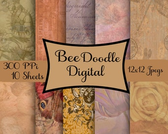 Digital Scrapbook Paper,  Printable Paper, Digital Paper, Digiscraps,