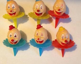 Vintage Clown Head Picks