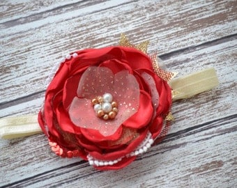 Child Headband, Holiday Headband, Christmas Headband