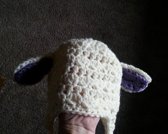 baby lamb hat and diaper cover
