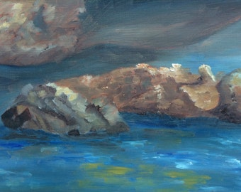 Maine River - Original Oil Painting