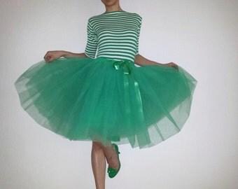 Tulle skirt petticoat Emerald 55 cm length skirt