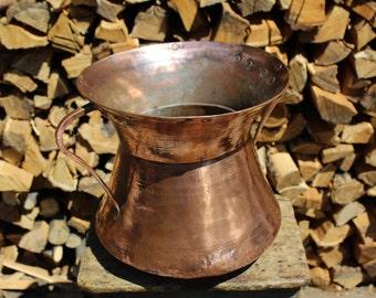 Handmade Copper Pitcher: Restored Antique