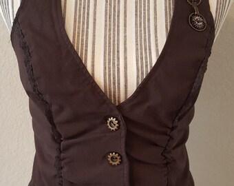 Vintage Brown Steampunk Vest
