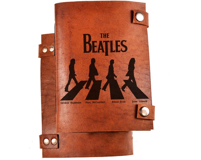Beatles journal - Beatles gift - Beatles notebook - Leather journal - custom notebook