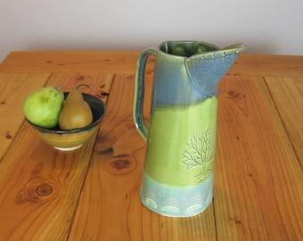 Hand Built Ceramic Pitcher Vase