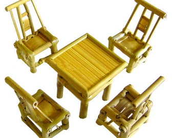 unique chinese bamboo miniature furniture set 5 pieces handmade chinese miniature dollhouse furniture chinese bamboo furniture