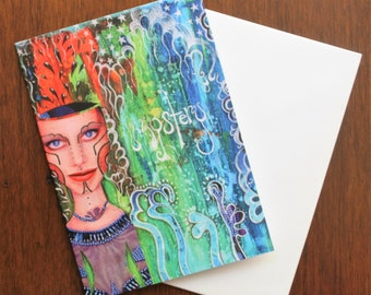 Mixed Pack of 5 Greeting Cards and envelopes