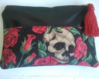 Tote bag. Clutch vintage skulls