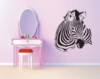 Zebra Wall Decal - wall vinyl sticker