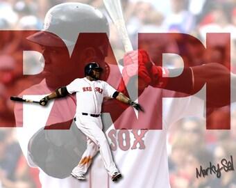 Big Papi Red Sox Canvas 12 x 16