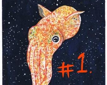 Squid Original Art Prints