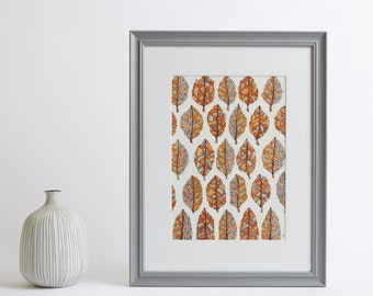 Framed Autumn Leaves Print