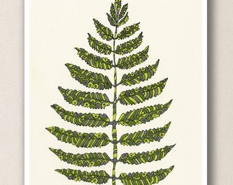 Green Fern A4 Art Print