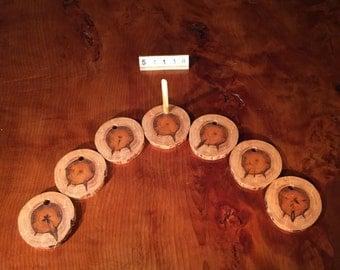 Yew Coasters - Set of Six