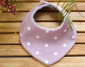 Bib - bandana | Pink & taupe