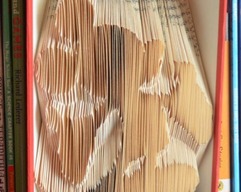 Folded Book Art: Mickey or Minnie Mouse (Name Personalization Available Upon Request!)