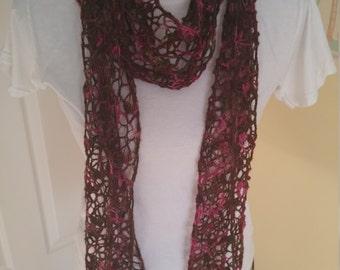 Crochet Whispering Rose Scarf