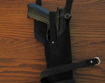Star Wars Inspired Leather Black Blaster Holster