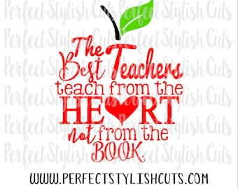 The Best Teachers SVG, DXF, EPS, png Files for Cutting Machines Cameo or Cricut - Teacher Appreciation Svg, Teacher Svg, Apple Svg, PreK Svg