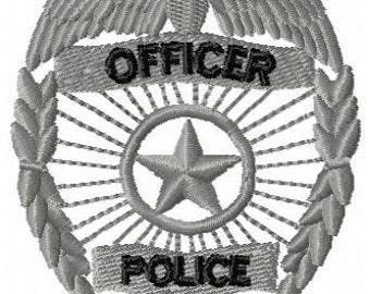 Police Badge Machine Embroidery Design