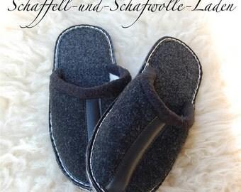 Felt slippers, Filpantoffeln, felt slippers, slippers, GummisohleGr. 35-47, new