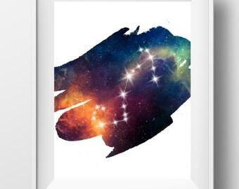 Scorpio constellation, scorpio zodiac, scorpio print, constellation art, astrology print, november birthday, october birthday, scorpio gift