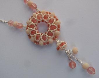 Cherry quartz pendant necklace