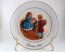 Unique Avon Christmas Plate Related Items Etsy