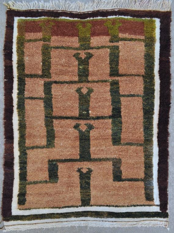 Karapinar Tulu Rug, Anatolian Angora Wool carpet - 3'11 x 5'2 - Free shipping!