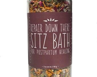 """Postpartum Sitz Bath, Postpartum Care, Perineum Tear, Organic Herbs, """"Repair Down There Sitz Bath"""""""