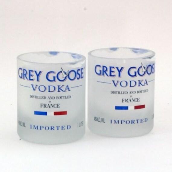 1 grey goose vodka 1 liter bottle rocks glass by bcycledbottles. Black Bedroom Furniture Sets. Home Design Ideas