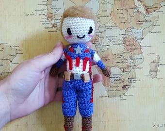 Amigurumi Captain America / Steve Rogers