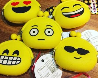 6 Emoji Silicone Coin purses