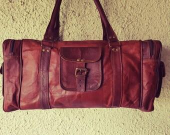 Leather Duffel Bag // Leather Bag // Gym Bag // Overnight Bag // Luggage