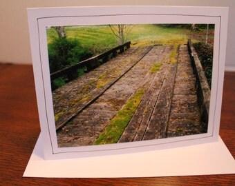 Woodland Bridges, Photo Greeting Cards (Set of 6), Original Photography, Photo Note Cards
