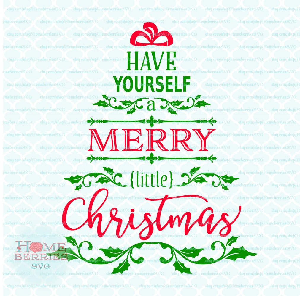 Have Yourself A Merry Little Christmas Tree Song Lyrics Quote