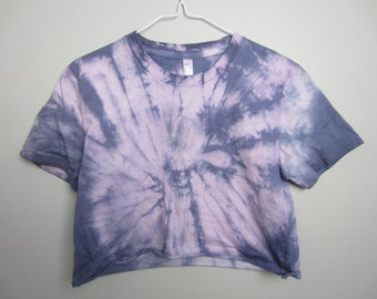 Faded Purple/Indigo Crop Short-Sleeved Top Women's Size S or L