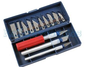 Toolzone 16-piece precision craft knife set