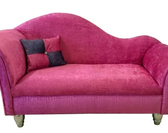 Snake Fuchsia Double Armed Chaise