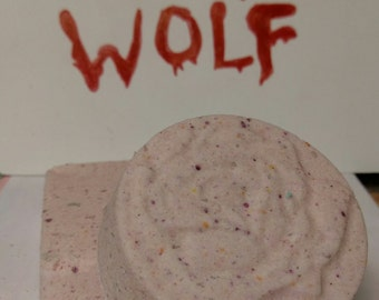 Bad Wolf Doctor Who inspired bath bomb