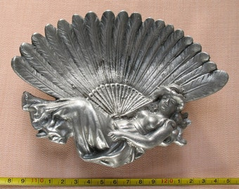 Russian ASHTRAY NYMPH APHRODITE Soviet vintage Ussr metal Soviet Union