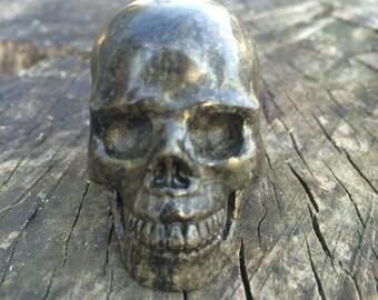 Natural Pyrite Crystal Skull
