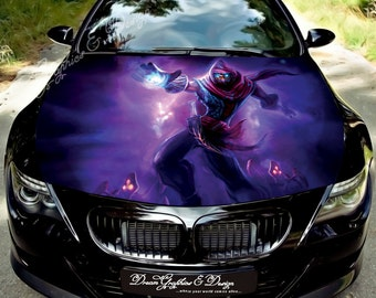 Manga Full Color Graphics Adhesive Vinyl Sticker Fit any Car Hood Bonnet 134